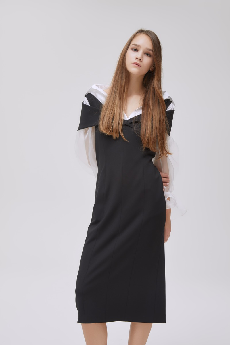 Off-Collar Dress