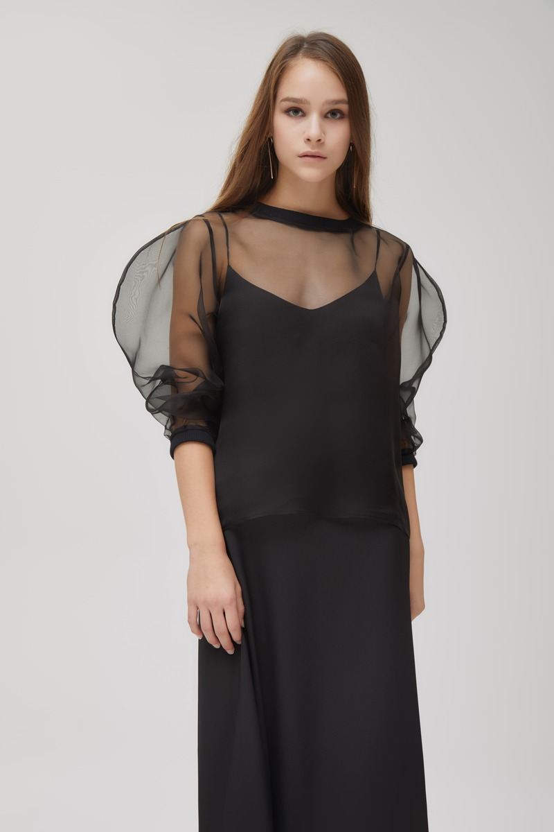 Rounded Organza Top