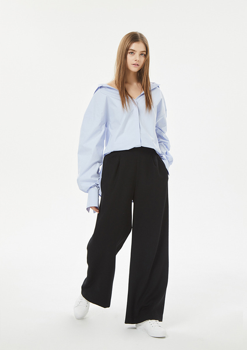 Collection Blue shirt+Wide trouser
