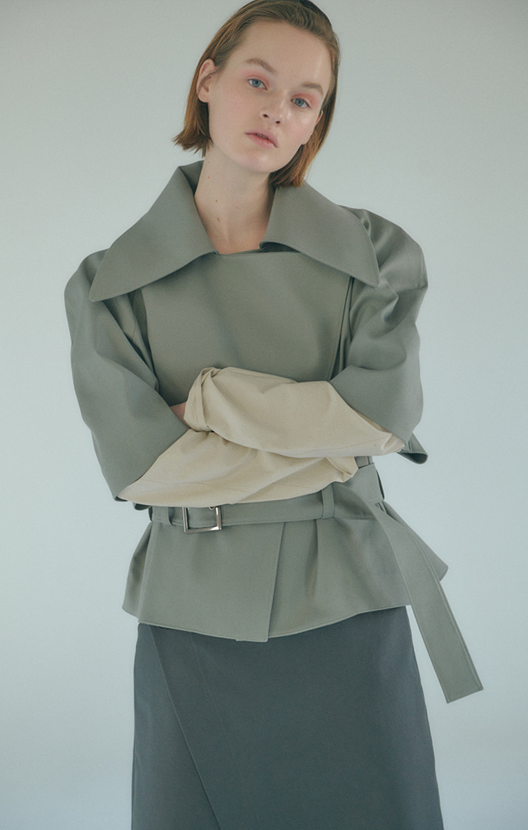 Sage Short Trench