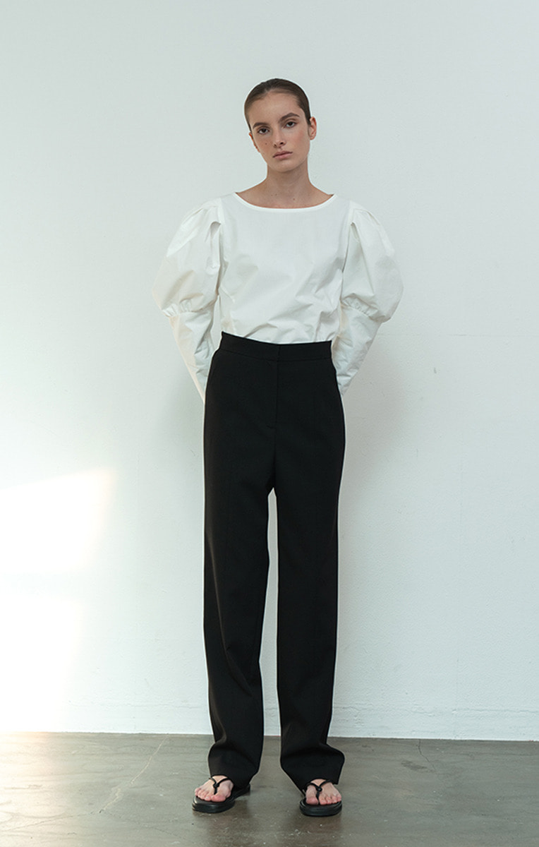 High-rise Straight fit Pants