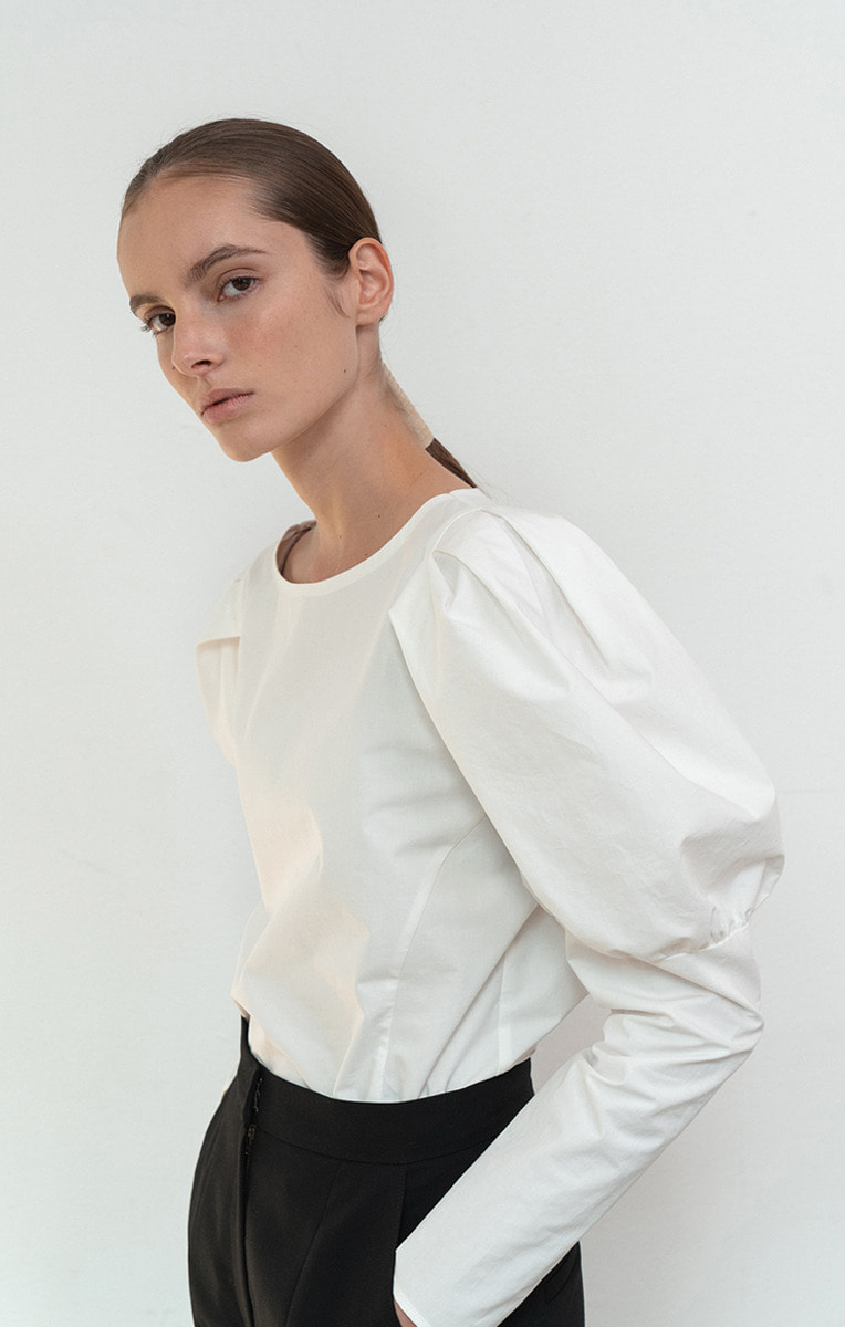 Ines Puff-sleeve Cotton Top