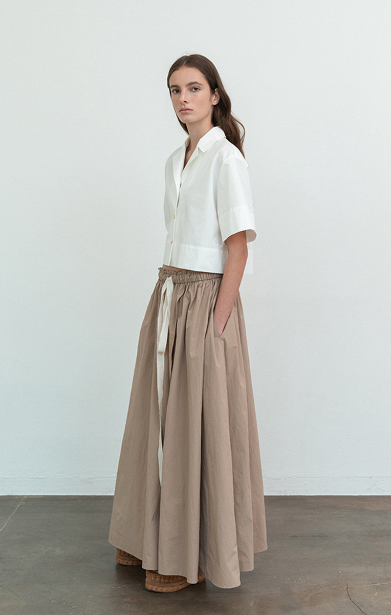 Gathered Maxi Skirt
