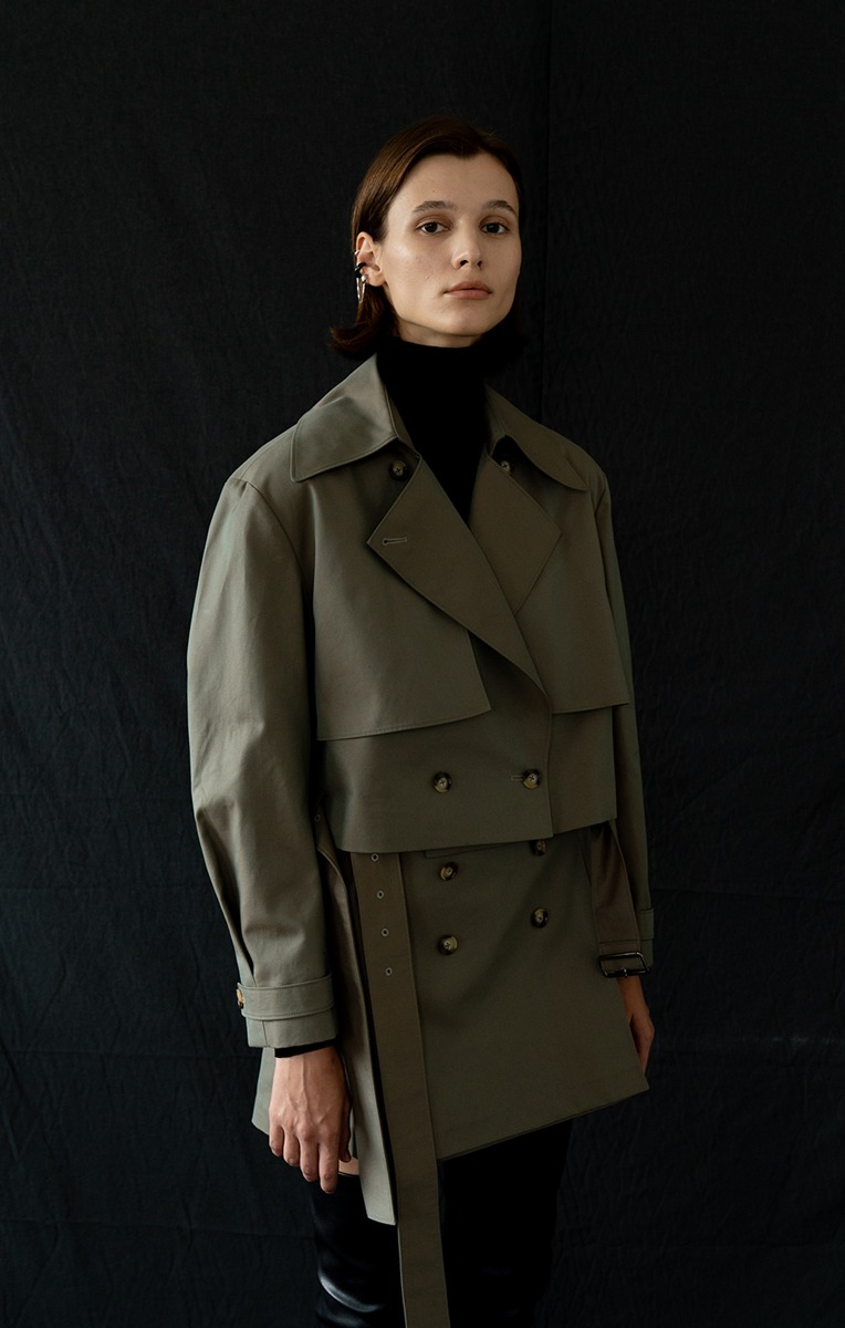 Jane Belted Cotton-gabardine Jacket