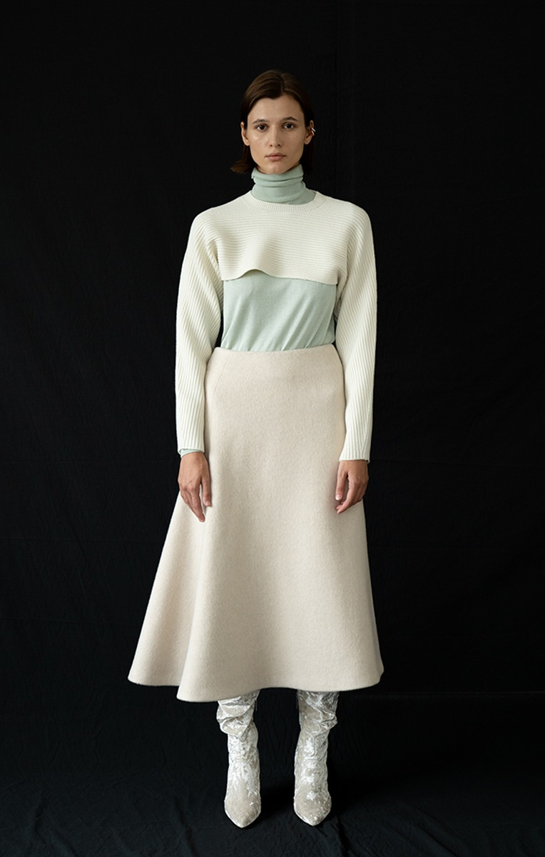 Silk-cashmere turtleneck sweater