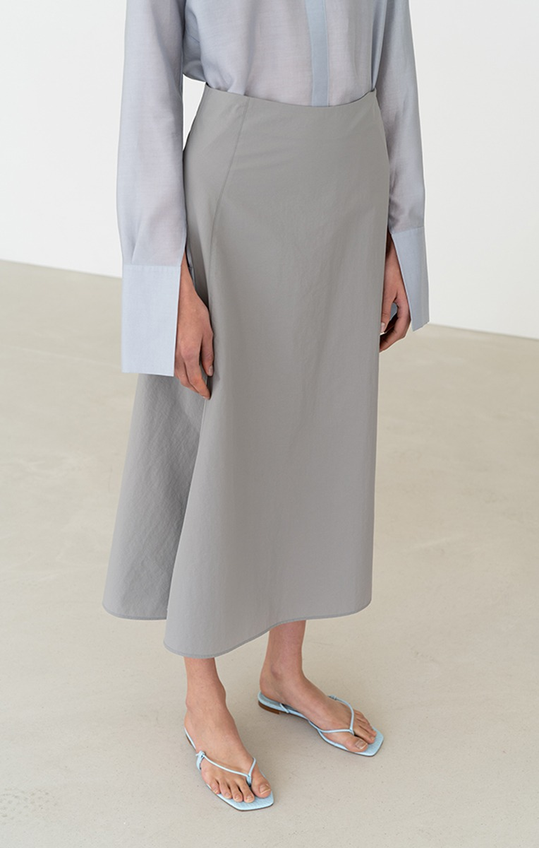 ROY ASYMMETRIC SKIRT (KHAKI GREY)