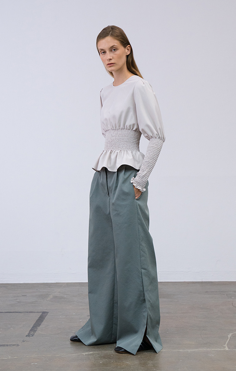 Button Wide Trouser